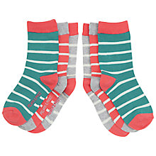 Buy Polarn O. Pyret Children's Stripy Socks, Pack of 3 Online at johnlewis.com