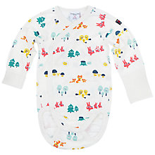 Buy Polarn O. Pyret Baby Woodland Animals Bodysuit, White/Multi Online at johnlewis.com