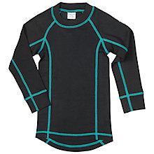 Buy Polarn O. Pyret Children's Long Sleeve Thermal Top, Black Online at johnlewis.com