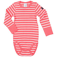 Buy Polarn O. Pyret Baby Striped Bodysuit, Pink Online at johnlewis.com