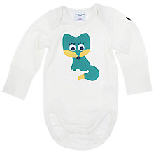 Buy Polarn O. Pyret Baby Fox Applique Bodysuit Online at johnlewis.com