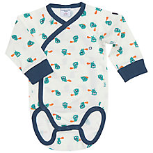 Buy Polarn O. Pyret Baby's Beaver Bodysuit, Blue Online at johnlewis.com