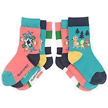 Buy Polarn O. Pyret Baby's Animal Socks, Pack of 3 Online at johnlewis.com