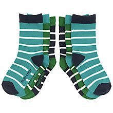 Buy Polarn O. Pyret Baby Striped Socks, Pack of 3 Online at johnlewis.com