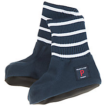 Buy Polarn O. Pyret Baby's Fleece Booties, Blue Online at johnlewis.com
