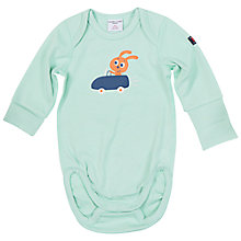 Buy Polarn O. Pyret Baby's Rabbit Bodysuit, Green Online at johnlewis.com