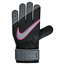 Buy Nike Junior Goalkeeper Match Football Gloves, Black/Cool Grey Online at johnlewis.com