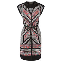 Buy Oasis Paisley Print T-Shirt Dress, Black Online at johnlewis.com