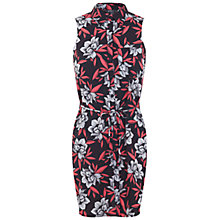 Buy Miss Selfridge Petite Floral Shirt Dress, Coral Online at johnlewis.com