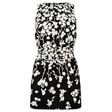 Buy Oasis Meadow Floral Shadow Tunic Top, Black / White Online at johnlewis.com