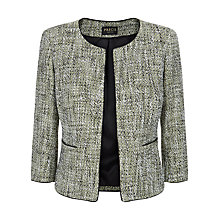 Buy Precis Petite Tweed Collarless Jacket, Multi Black Online at johnlewis.com
