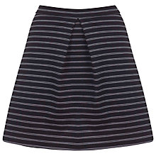 Buy Miss Selfridge Pinstripe A-line Skirt, Black Online at johnlewis.com