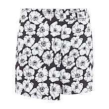 Buy Miss Selfridge Jacquard Skort, Black Multi Online at johnlewis.com