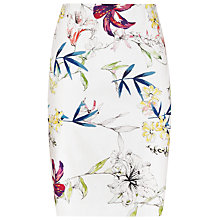 Buy Reiss Demi Printed Pencil Skirt, Sugar Online at johnlewis.com