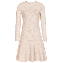 Buy Reiss Bessy Peplum Hem Dress, Cream Online at johnlewis.com