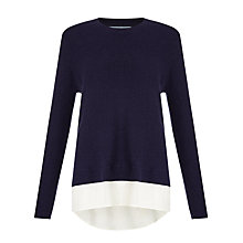 Buy John Lewis Capsule Collection Two In One Jumper, Navy Online at johnlewis.com