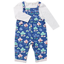 Buy John Lewis Baby Floral Dungaree Set, Blue Multi Online at johnlewis.com