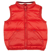 Buy John Lewis Baby Wadded Gilet, Red Online at johnlewis.com