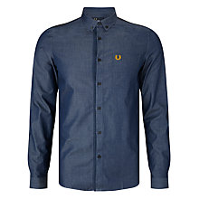 Buy Fred Perry Chambray Flat Shirt, Indigo Online at johnlewis.com