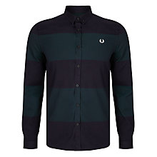 Buy Fred Perry Textured Stripe Shirt, Navy Online at johnlewis.com