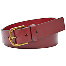 Buy Fossil Modern Covered Buckle Belt, Maroon Online at johnlewis.com