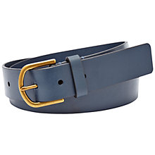 Buy Fossil Modern Covered Buckle Leather Belt, Navy Online at johnlewis.com