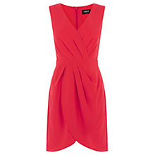 Buy Oasis Caitlin Drape Crepe Dress, Rich Red Online at johnlewis.com