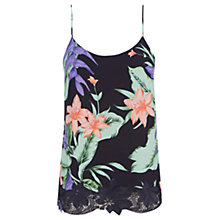 Buy Oasis Tropical Palm Print Camisole, Multi Online at johnlewis.com