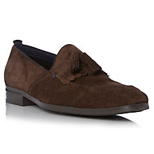 Buy Dune Apron Suede Tassel Loafers, Brown Online at johnlewis.com