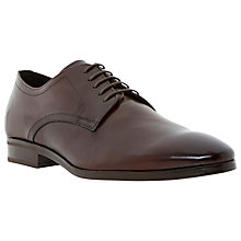 Buy Dune Sleek Almond Derby Shoes, Dark Brown Online at johnlewis.com