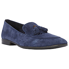 Buy Dune Remy Tassel Suede Loafers, Navy Online at johnlewis.com