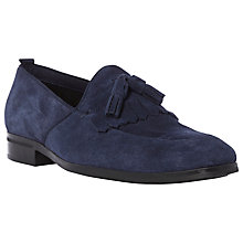 Buy Dune Apron Suede Tassel Loafers, Navy Online at johnlewis.com