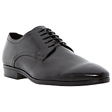Buy Dune Remarkable Leather Lace Up Gibson Shoes, Black Online at johnlewis.com