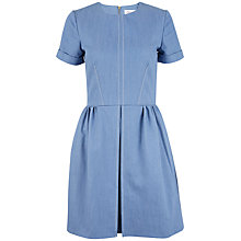 Buy Closet Denim Pleat Dress, Blue Online at johnlewis.com
