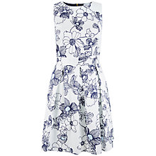 Buy Closet Floral Lace Black Dress, Navy/White Online at johnlewis.com