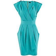 Buy Closet Cross Over Dress, Aqua Online at johnlewis.com