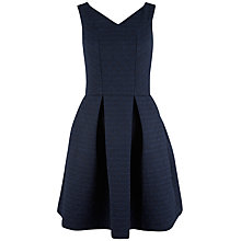 Buy Closet V-Neck Skater Dress, Navy Online at johnlewis.com