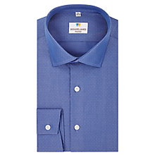 Buy Richard James Mayfair End-On-End Austin Dobby Spot Shirt, Blue Online at johnlewis.com