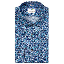 Buy Richard James Mayfair Austin Floral Print Shirt, Teal Online at johnlewis.com