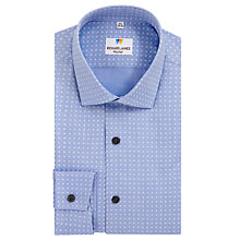 Buy Richard James Mayfair Austin Foulard Print Shirt, Light Blue Online at johnlewis.com