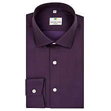 Buy Richard James Mayfair Austin Fine Dark Twill Shirt, Plum Online at johnlewis.com