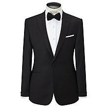 Buy Richard James Mayfair Hopsack Wool Dress Suit Jacket, Black Online at johnlewis.com