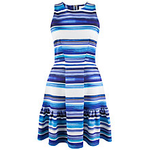 Buy Closet Stripe Scuba Skater Dress, Blue Online at johnlewis.com