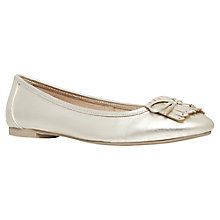Buy Carvela Latina Leather Fringe Ballerina Pumps, Gold Online at johnlewis.com