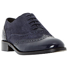 Buy Dune Fountain Suede Brogues, Navy Online at johnlewis.com