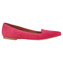 Buy Jigsaw Cecile Suede Pointed Flat Shoes, Camelia Online at johnlewis.com