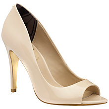 Buy Ted Baker Ilyey Patent Leather Peep Toe Court Shoes Online at johnlewis.com