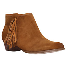 Buy Miss KG Sassy Suede Tassel Ankle Boots, Tan Online at johnlewis.com