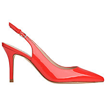 Buy L.K. Bennett Florrie Patent Leather Slingback Court Shoes, Cardinal Red Online at johnlewis.com