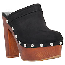Buy Miss KG Garvey Platform Clog Sandals, Black Online at johnlewis.com